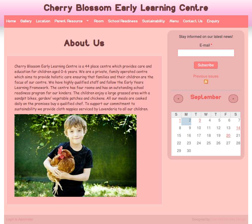 Early Learning: Red Starfish Web Design