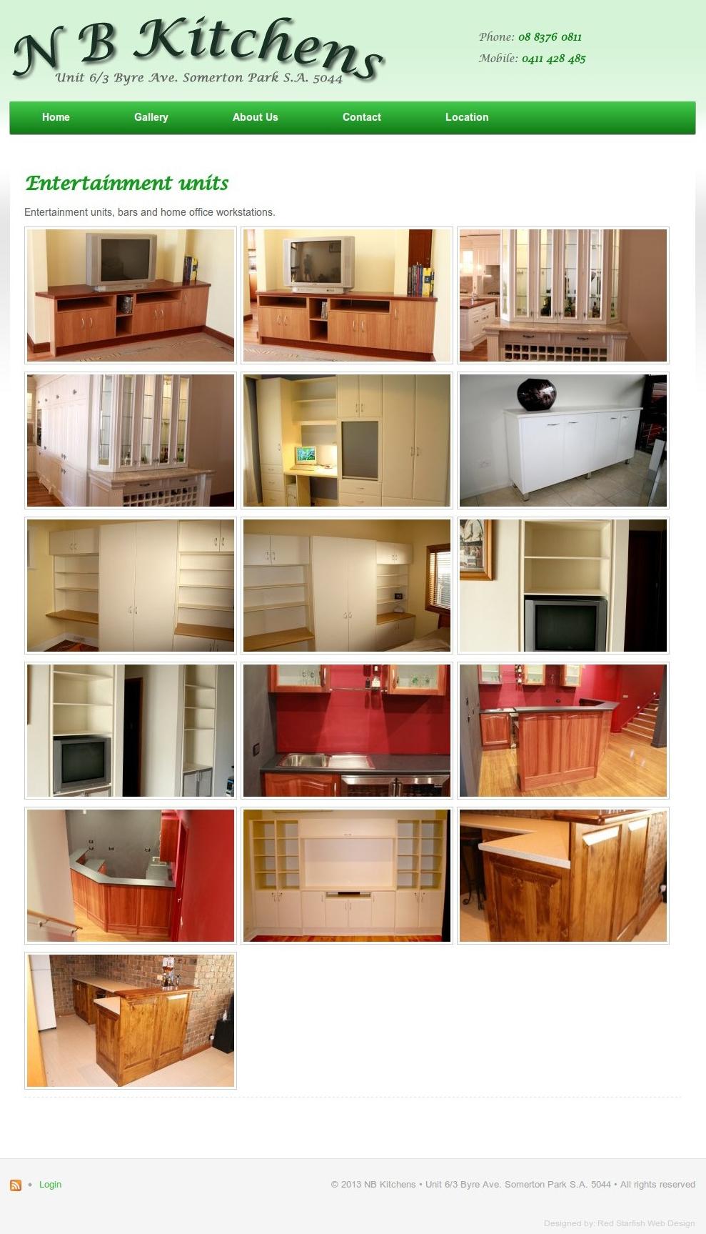 Trades red starfish web design for Sa company kitchen
