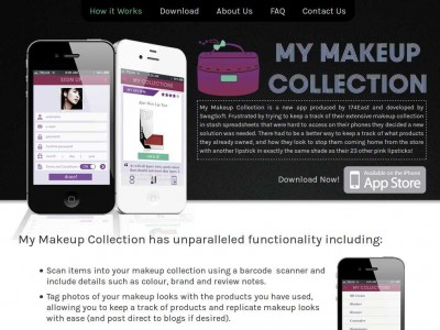 Make Up Collection iPhone App | Red Starfish Web Design