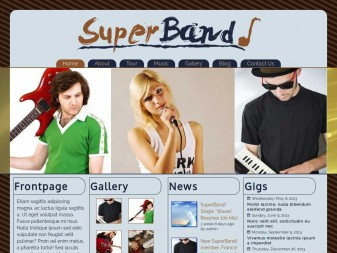 Music Band Site